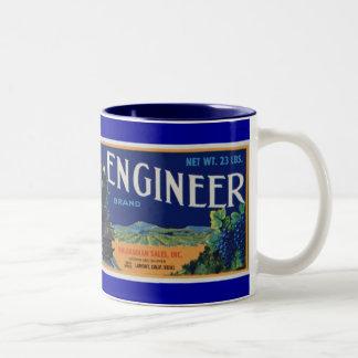 Locomotive Engineer Grapes Two-Tone Coffee Mug