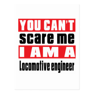 Locomotive engineer scare designs postcard