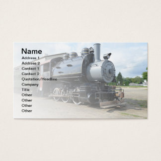 locomotive for a vintage steam train business card