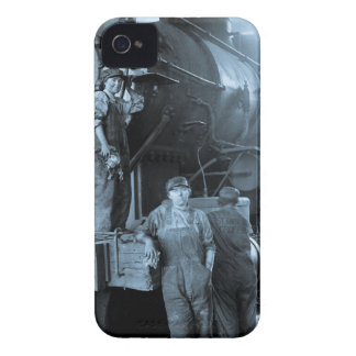 Locomotive Ladies Roundhouse Rosies World War I iPhone 4 Case-Mate Case
