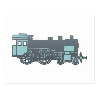Locomotive locomotive locomotive post card