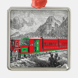 locomotive-pictures-2Modern (1871) Train from New Silver-Colored Square Decoration