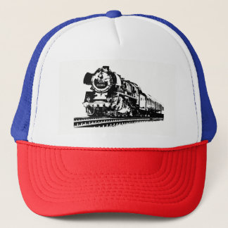 Locomotive Silhouette Trucker Hat