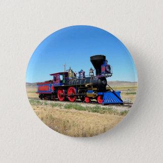Locomotive Steam Engine Train Photo 6 Cm Round Badge