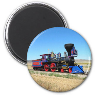 Locomotive Steam Engine Train Photo 6 Cm Round Magnet