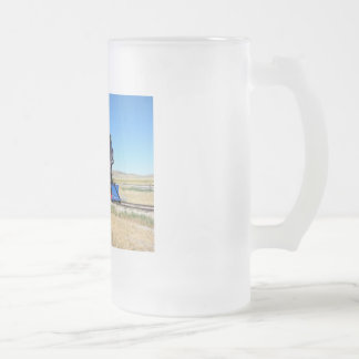 Locomotive Steam Engine Train Photo Frosted Glass Beer Mug