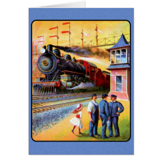 Locomotive Steam Train Card