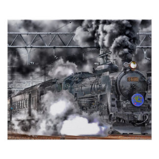 Locomotive / Train Photo Poster