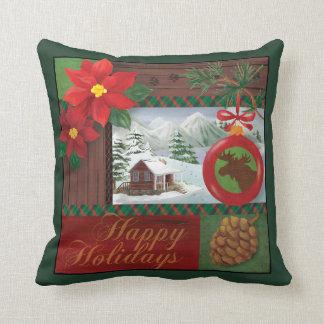 Lodge Christmas pillow