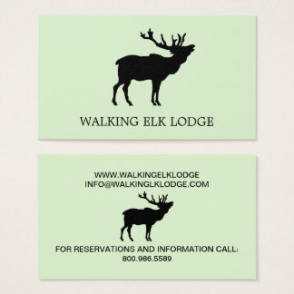 Lodge Or Cabins Rental Business Cards