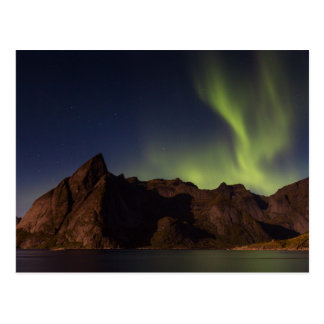 Lofoten - Northern lights over Olstind postcard