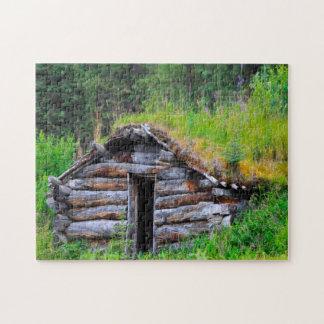 Log Cabin Alaska. Jigsaw Puzzle