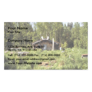Log Cabin along the Nowitna River Business Card Templates