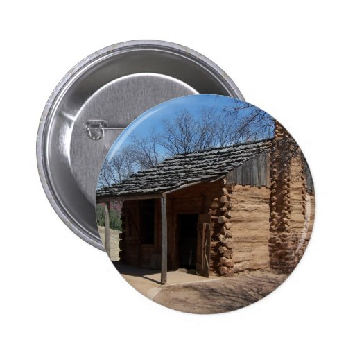 Log Cabin Pinback Buttons
