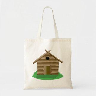 Log Cabin Canvas Bag
