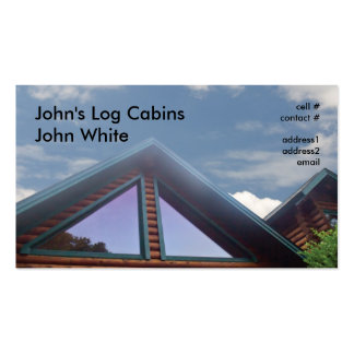 log cabin business card templates