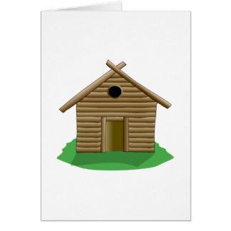 Log Cabin Note Card