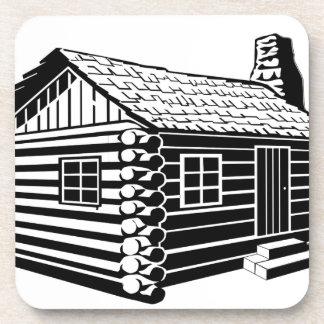 Log Cabin Coaster