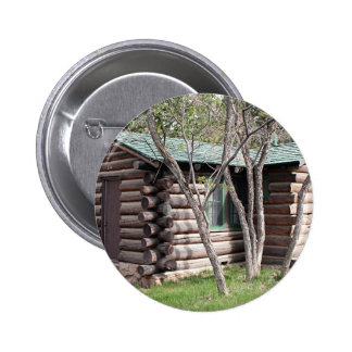Log cabin, Grand Canyon North Rim, Arizona, USA Button