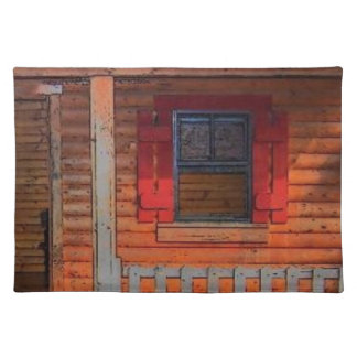 Log Cabin Home Front Porch Placemat