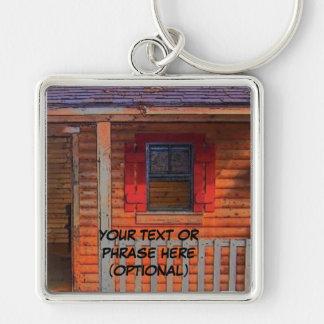 Log Cabin Home Key Chains