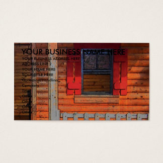 Log Cabin House Business Card