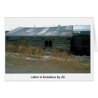 LOG CABIN IN KOTZ (2), cabin in kotzebue by JG Greeting Card