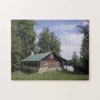 Log Cabin in the Pines Jigsaw Puzzle