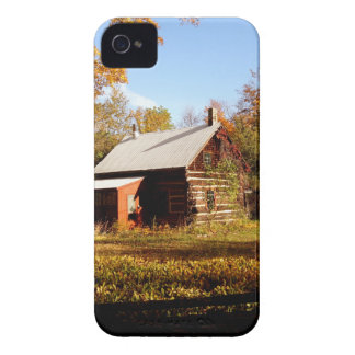 Log Cabin in the Woods iPhone 4 Case