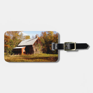 Log Cabin in the Woods Luggage Tag
