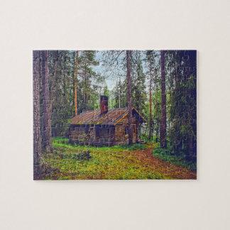 Log Cabin Jigsaw Puzzle