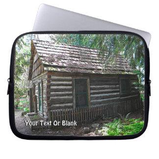 Log Cabin Laptop Computer Sleeve
