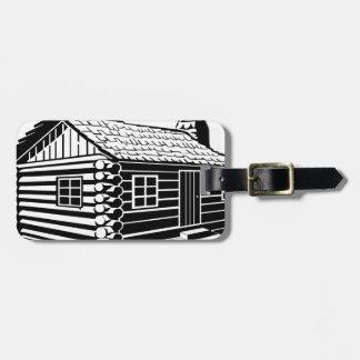 Log Cabin Luggage Tag