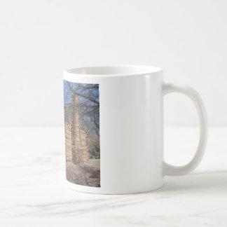 Log Cabin Basic White Mug