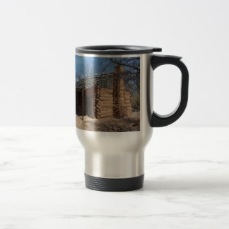Log Cabin Stainless Steel Travel Mug