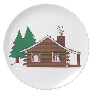 Log Cabin Dinner Plate