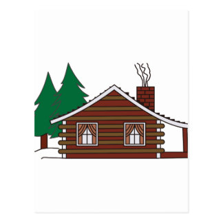Log Cabin Postcard