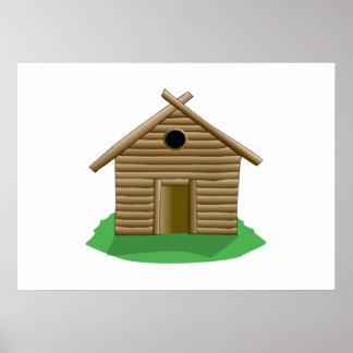 Log Cabin Print