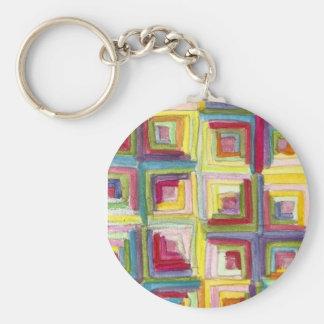 log cabin quilt keychains