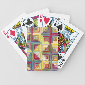 log cabin quilt poker deck