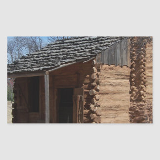 Log Cabin Rectangular Sticker