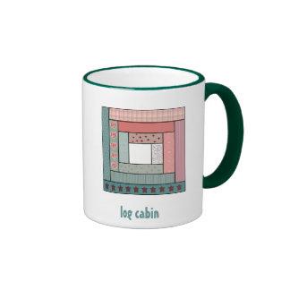 Log Cabin Ringer Mug