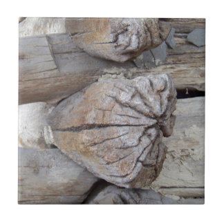 Log Cabin Small Square Tile
