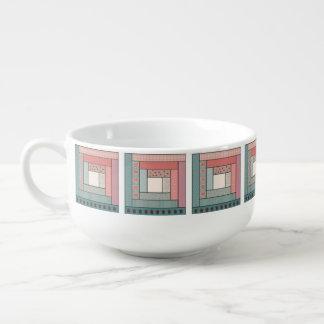 Log Cabin Soup Mug