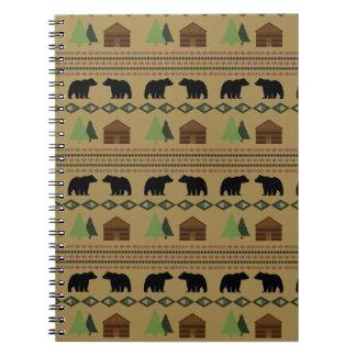 Log Cabin Spiral Notebooks