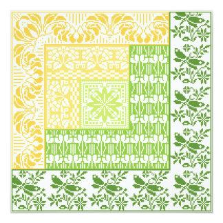 Log Cabin~Spring 5.25x5.25 Square Paper Invitation Card