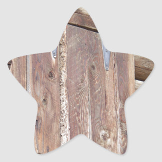Log Cabin Star Sticker