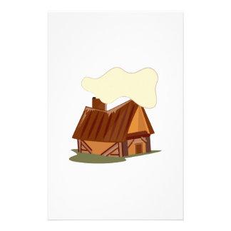 Log Cabin Customized Stationery
