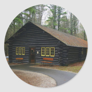 Log cabin stickers - Large