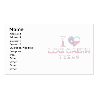 Log Cabin, Texas Business Cards